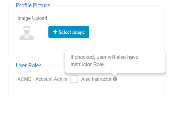 Adding Flight Instructor Role to Admin Users